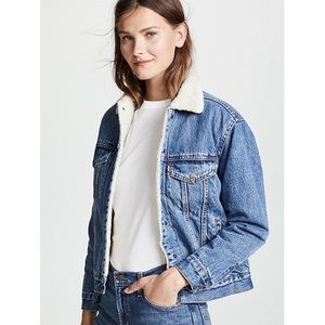 NWT Large Levi's Sherpa Denim Jacket